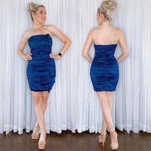 Bebe Blue Fitted Mini Dress